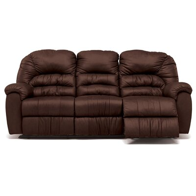 Taurus Leather Reclining Sofa Upholstery: All Leather Protected - Tulsa II Dark Brown, Type: Power