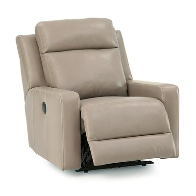 Forest Hill Swivel Rocker Recliner Upholstery: Leather/PVC Match - Tulsa II Jet, Upholstery`: All Leather Protected  - Tulsa II Bisque