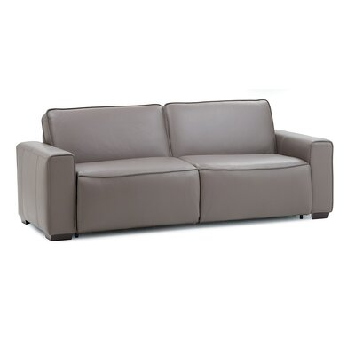 Lullaby Super Double Sofa Upholstery: Bonded Leather - Champion Alabaster