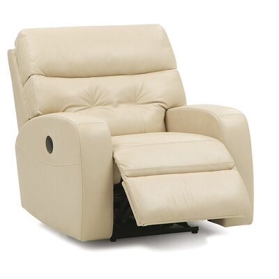Southgate Wall Hugger Recliner Upholstery: Bonded Leather - Champion Alabaster, Type: Power