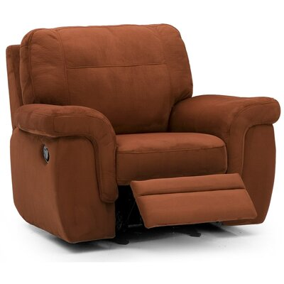 Brunswick Wall Hugger Recliner Type: Power, Upholstery: Leather/PVC Match - Tulsa II Chalk