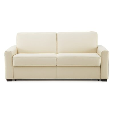 Roommate Sleeper Sofa Upholstery: Bonded Leather - Champion Alabaster, Upholstery`: Bonded Leather - Champion Khaki
