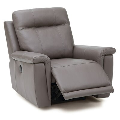Westpoint Wall Hugger Recliner Upholstery: Leather/PVC Match - Tulsa II Chalk, Type: Power
