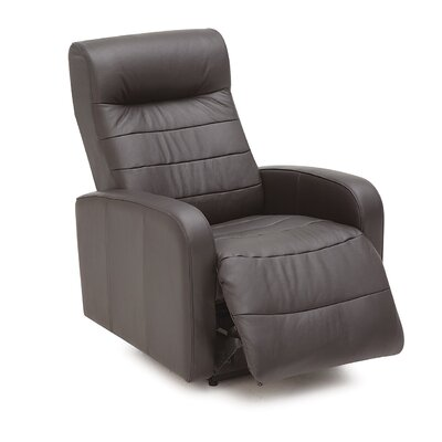 Riding Mountain II Wall Hugger Recliner Upholstery: All Leather Protected - Tulsa II Jet