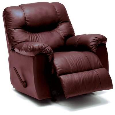 Regent Wall Hugger Recliner Upholstery: Leather/PVC Match - Tulsa II Dark Brown, Type: Power