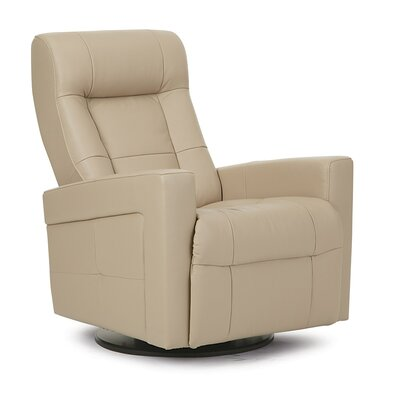 Chesapeake II Wall Hugger Recliner Upholstery: Bonded Leather - Champion Alabaster, Type: Power
