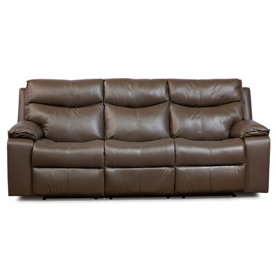Providence Leather Reclining Sofa Upholstery: Bonded Leather - Champion Mink, Type: Power