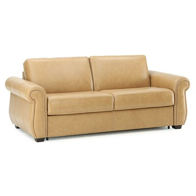 Holiday Sleeper Sofa Upholstery: All Leather Protected  - Tulsa II Chalk
