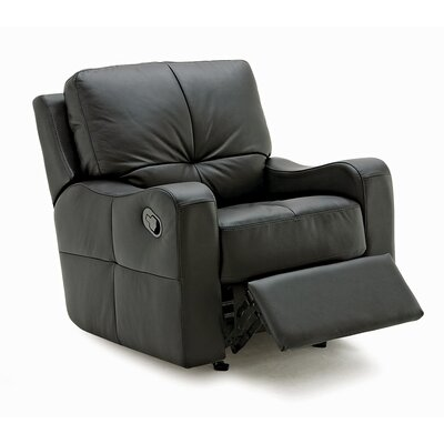 National Swivel Rocker Recliner Upholstery: Bonded Leather - Champion Alabaster