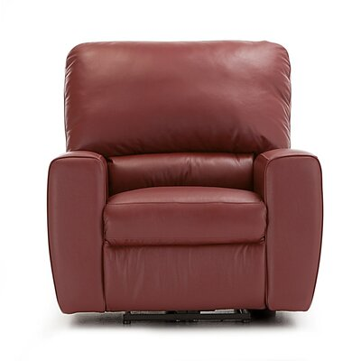 San Francisco Rocker Recliner Upholstery: Bonded Leather - Champion Java, Type: Power