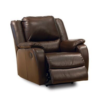 Sawgrass Wall Hugger Recliner Upholstery: Bonded Leather - Champion Granite, Type: Manual
