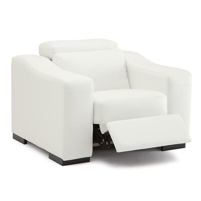Cortez II Wall Hugger Recliner Upholstery: Leather/PVC Match - Tulsa II Jet