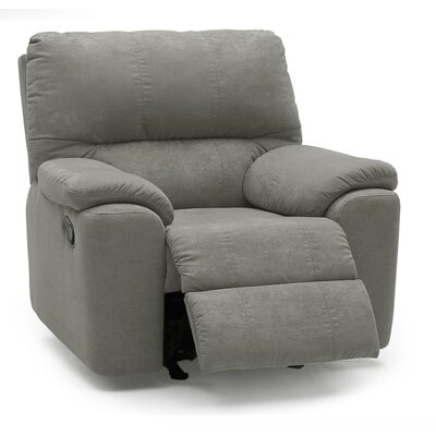 Yale Swivel Rocker Recliner Upholstery: All Leather Protected  - Tulsa II Jet