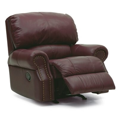 Charleston Wall Hugger Recliner Upholstery: Leather/PVC Match - Tulsa II Chalk, Type: Power