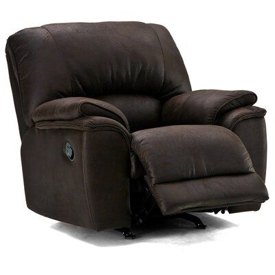 Dallin Wall Hugger Recliner Upholstery: Bonded Leather - Champion Granite, Type: Manual