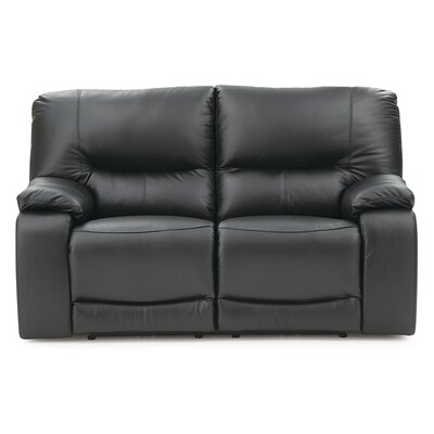 Norwood Reclining Loveseat Upholstery: Leather/PVC Match - Tusla II Jet