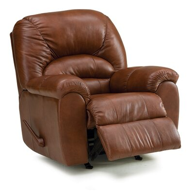 Taurus Wall Hugger Recliner Upholstery: All Leather Protected - Tulsa II Dark Brown, Type: Manual