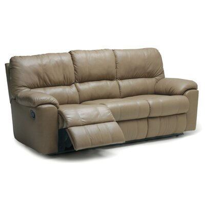 Picard Leather Reclining Sofa Upholstery: Bonded Leather - Champion Java, Type: Power