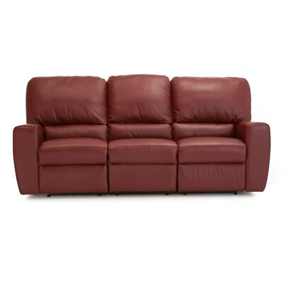 San Francisco Leather Reclining Sofa Upholstery: Bonded Leather - Champion Alabaster, Type: Power