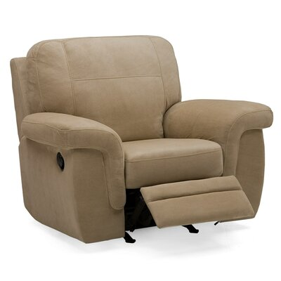 Brunswick Wall Hugger Recliner Type: Power, Upholstery: Bonded Leather - Champion Khaki