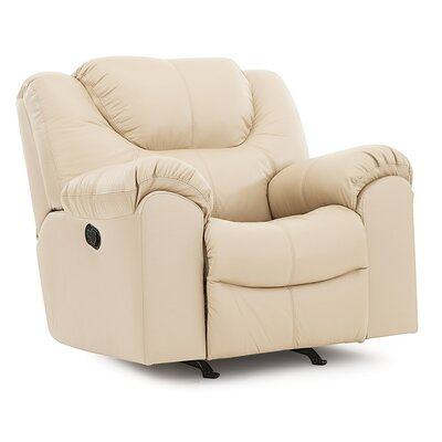 Parkville Swivel Rocker Recliner Upholstery: Leather/PVC Match - Tulsa II Chalk