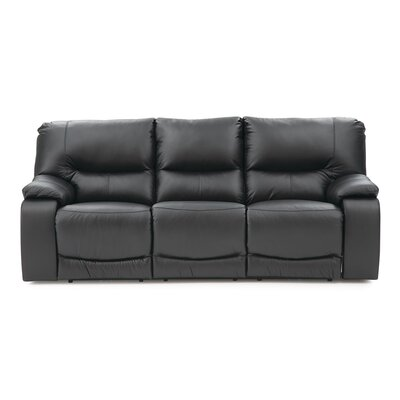 Norwood Leather Reclining Sofa Upholstery: Bonded Leather - Champion Onyx, Type: Power