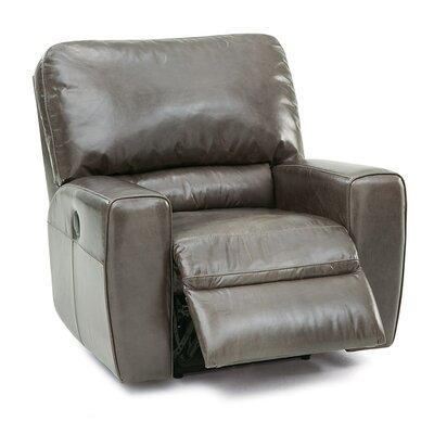 San Francisco Swivel Rocker Recliner Upholstery: Leather/PVC Match - Tulsa II Stone