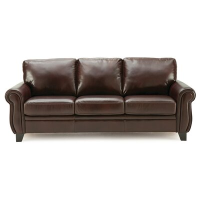 Meadowridge Sofa Upholstery: Bonded Leather - Champion Java