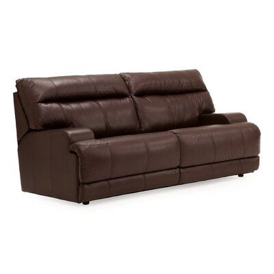 Lincoln Console Reclining Sofa Upholstery: Leather/PVC Match - Tulsa II Dark Brown