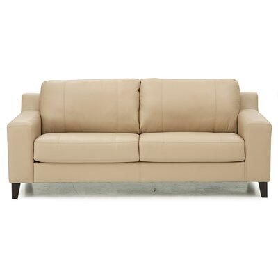 Sonora Loveseat Upholstery: Leather/PVC Match - Tulsa II Bisque