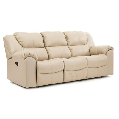 Parkville Reclining Loveseat Upholstery: All Leather Protected - Tulsa II Chalk, Type: Power