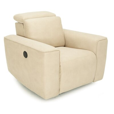 Springfield Wall Hugger Recliner Upholstery: All Leather Protected - Tulsa II Chalk, Type: Power