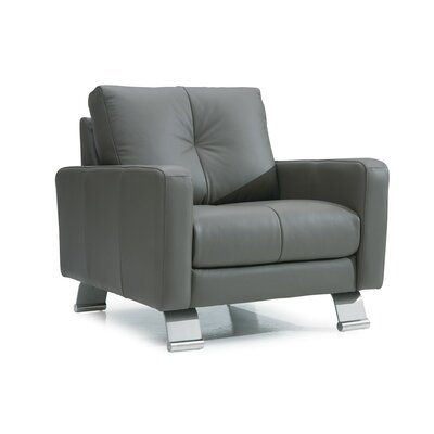 Ocean Drive Armchair Upholstery: Leather/PVC Match - Tulsa II Chalk