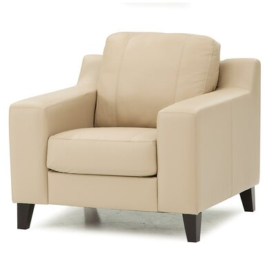 Sonora Armchair Upholstery: Leather/PVC Match - Tulsa II Bisque