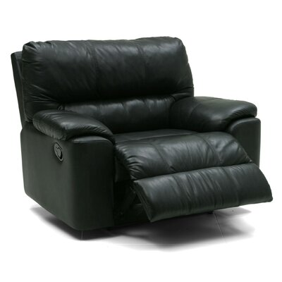 Yale Swivel Rocker Recliner Upholstery: Bonded Leather - Champion Onyx