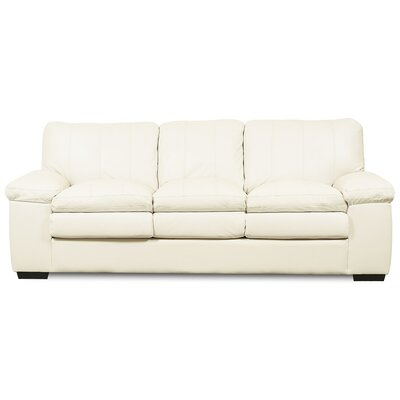 Polluck Sofa Upholstery: Leather/PVC Match - Tulsa II Sand