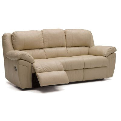 Daley Leather Sofa Upholstery: Leather/PVC Match - Tulsa II Stone, Type: Manual
