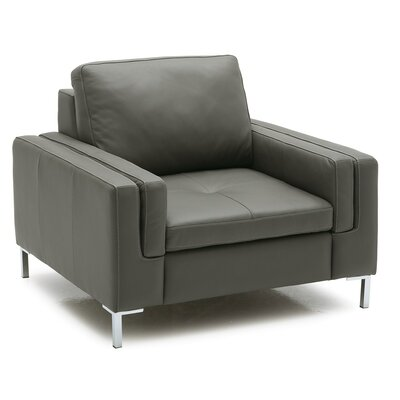 Wynona Arm Chair Upholstery: Bonded Leather - Champion Alabaster