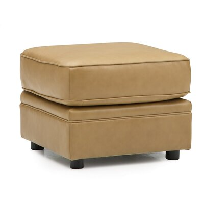 Viceroy Ottoman Upholstery: All Leather Protected  - Tulsa II Chalk