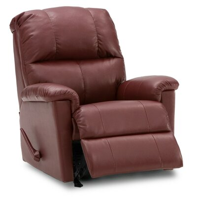 Gilmore Wall Hugger Recliner Upholstery: Leather/PVC Match - Tulsa II Dark Brown, Type: Power