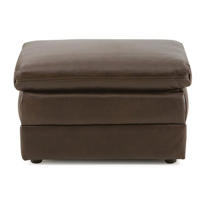 Polluck Ottoman Upholstery: All Leather Protected  - Tulsa II Chalk
