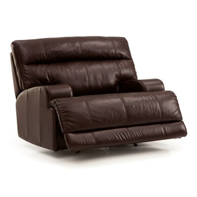 Lincoln Cuddler Recliner Upholstery: Leather/PVC Match - Tulsa II Jet