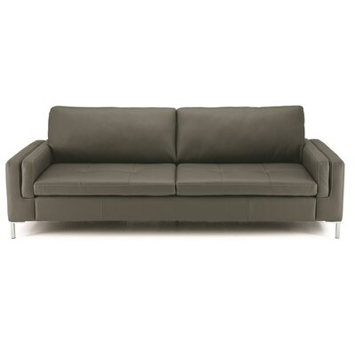 Wynona Sofa Upholstery: Bonded Leather - Champion Granite