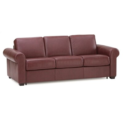 Sleepover Sleeper Sofa Upholstery: All Leather Protected  - Tulsa II Jet