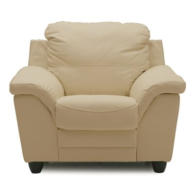 Sirus Armchair Upholstery: All Leather Protected  - Tulsa II Chalk