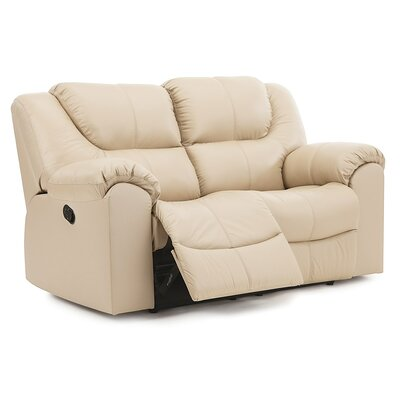 Parkville Reclining Loveseat Upholstery: Leather/PVC Match - Tulsa II Stone