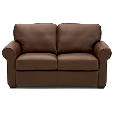 Magnum Loveseat Upholstery: Leather/PVC Match - Tulsa II Dark Brown