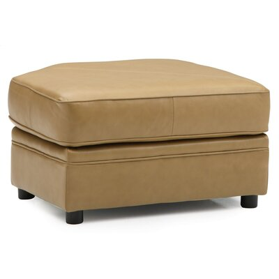 Viceroy Rectangular Ottoman Upholstery: Bonded Leather - Champion Alabaster