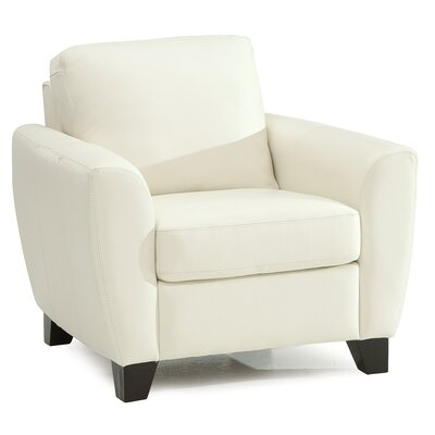 Marymount Armchair Upholstery: All Leather Protected  - Tulsa II Jet