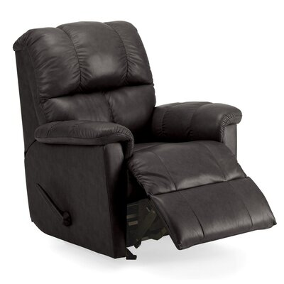Gilmore Wall Hugger Recliner Upholstery: Bonded Leather - Champion Granite, Type: Power